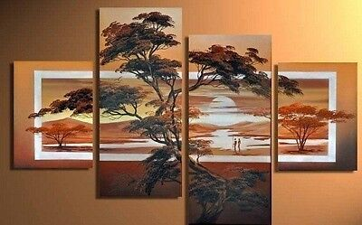 4PC Hand Painted Landscape Modern Home Wall Decor Oil Painting On Canvas Art