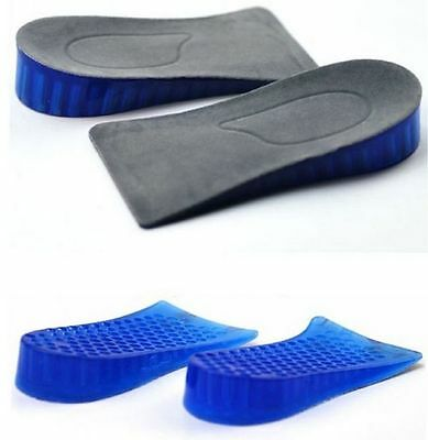 Silicone Gel Higher Increase Height Insoles Taller Lifts Inserts Heel Shoes Pad
