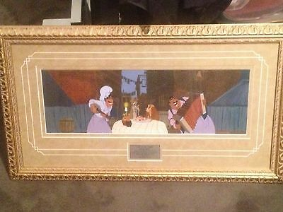 limited edition disney art lady and the tramp sold at disney