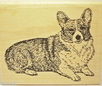 Welsh Corgi Rubber Stamp Dog Breed of Wales