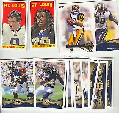 RAMS team set MASTER 2012 topps inserts & tallboys St.Louis   2 sets left
