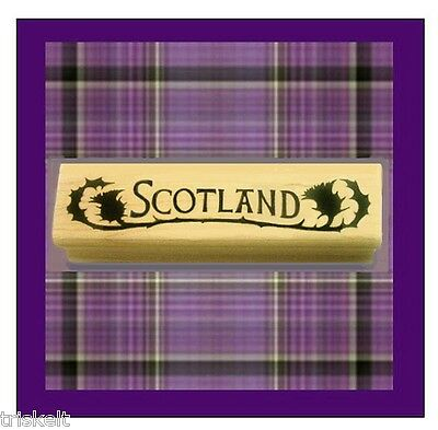 SCOTLAND Rubber Stamp Thistle Accents Travel Heritage Scrapbooking