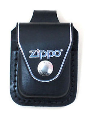 Zippo Black Leather Lighter Pouch With Belt Loop, Item LPLBK, New In Box