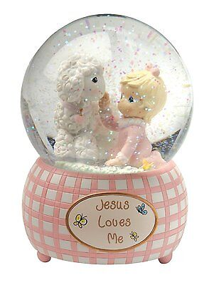 Precious Moments 100mm Musical Waterball Tune, Jesus Loves Me, Girl , New, Free