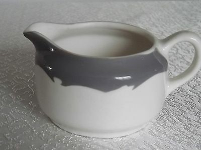 Gray Trim Buffalo China Restaurant Ware Creamer EUC