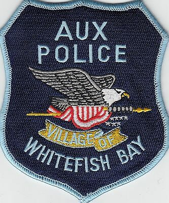 WHITEFISH POINT AUX POLICE SHOULDER PATCH WISCONSIN WI