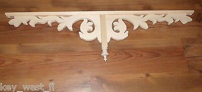 "Victorian Wood Gingerbread { 43"" x 12"" } Drop Pendant Bracket #45P ~ by PLD"