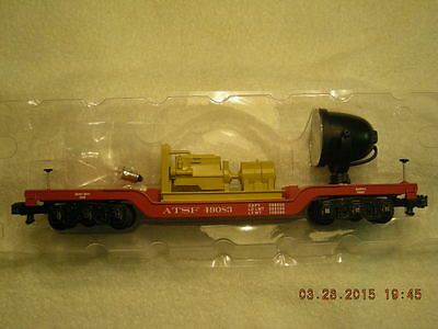 49083 AT&SF Depressed Center Flatcar With Searchlight  New In Box