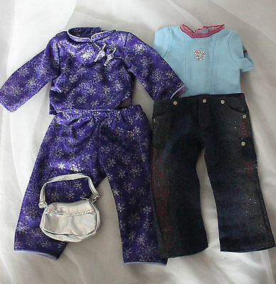 """Lot of original tagged clothes and purse for American Girl doll 18"""""""