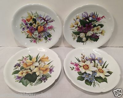 "Rochard, Limoges France - Hand Painted SMALL 5"" Side Dishes, Set of 4 - MINT!"