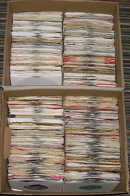 Wholesale box lot of over 500 jukebox 45 rpm records