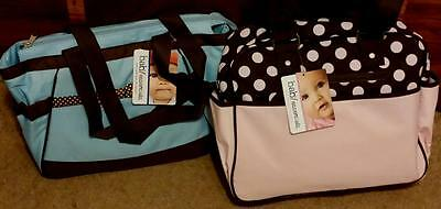 BRAND NEW WITH TAGS Baby Essentials Fashion Diaper Bag, CHOOSE PINK OR BLUE