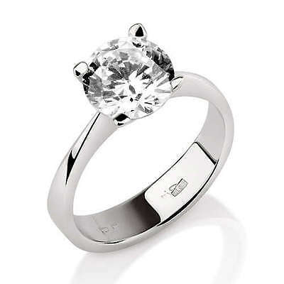 1.00 CT VS2 D CERTIFIED ROUND CUT DIAMOND ENGAGEMENT RING WHITE GOLD