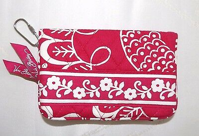 VERA BRADLEY - COMPACT OR TAXI WALLET - TWIRLY BIRDS PINK  - BRAND NEW