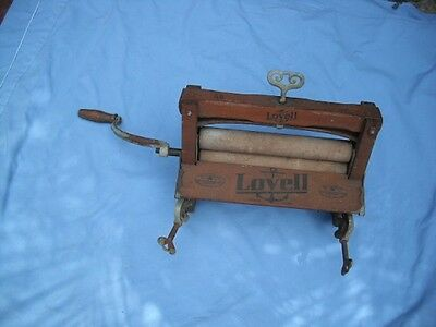 ANTIQUE Primitive WOODEN LOVELL ANCHOR NO 32 Clothes Clothing WASHER WRINGER