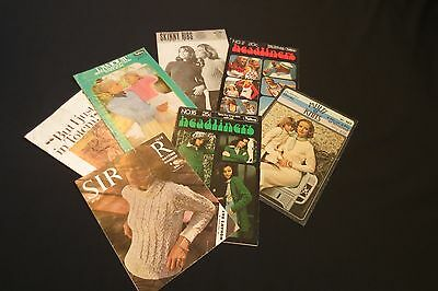 Lot of Vintage Knitting Patterns for Women No.3 - 1960s & 1970s
