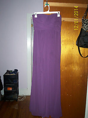 David's Bridal bridesmaid homecoming prom holiday party dress in plum size 2