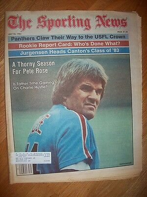 July 25, 1983 The Sporting News Pete Rose A Thorny Season