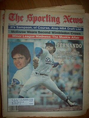 July 11, 1983 The Sporting News Fernando Valensuela A Nasty Salary Hassle