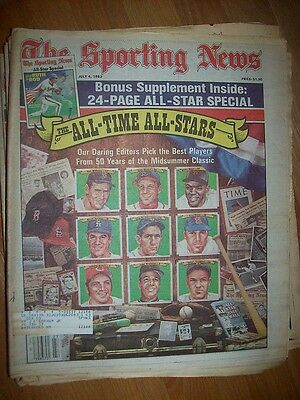 1983/07/04 July 4 The Sporting News All-Time All Stars