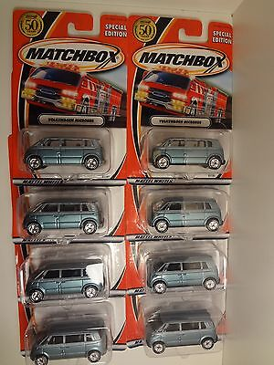 Volkswagen VW Microbus Special Dealers Edition Matchbox 50th Birthday Set Lot /8