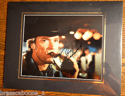 Clint Eastwood Autographed 8x10 Photo Signature Matted Auto RARE Beer Bottle ver