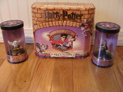 Harry Potter Wall Plaque &  Mini Figurine with Story Scope Hermione & Hedwig