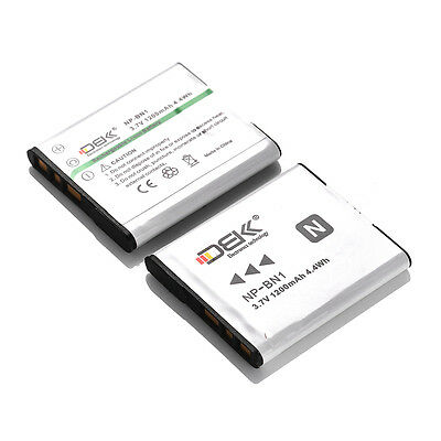 2 Pack For Sony NP-BN1 NPBN1 Lithium-Ion N Type Rechargeable Battery