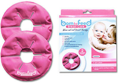 New Born to Feed Breast Feeding Care Contoured Gel Pack Warm & Cool Therapy 2PK