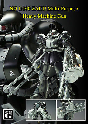 SG258 NG 1:100 Gundam ZAKU Multi-Purpose Heavy Machine Gun + Metal Bullets