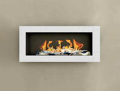 90s Gel and Ethanol Fireplace HIGH GLOSS White Bio-Ethanol NEW