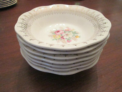 LOT of 7 CEREAL BOWLS: Vintage FRENCH SAXON CHINA: excellent!
