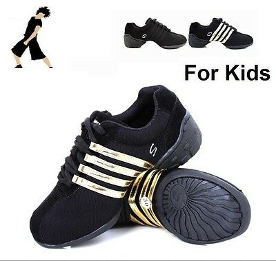 New Light Unisex Boys/Girls/Kids Dance Jazz Hip Hop Sneakers Shoes 3-Color #D1