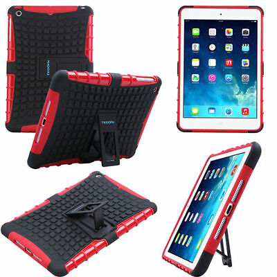 For iPad Air 1st Gen Shock Dirt Proof Heavy Duty Armor Tough Red Case Cover