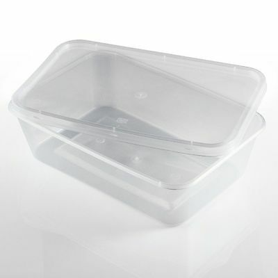 Food Containers Plastic Takeaway Microwave Freezer Storage Boxes Lids All Sizes