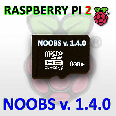 NOOBS for Raspberry Pi 2 preinstalled on 8Gb Micro SD CARD Class 10