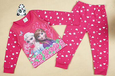 Frozen  Pyjamas Anna & Elsa Pink  2 -7 years long sleeve pj's girls