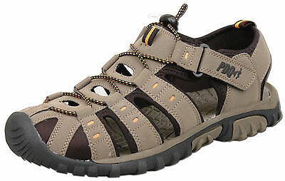 Mens New Taupe Closed Toe Walking Trail Holiday Beach Sandal Size 7 8 9 10 11 12