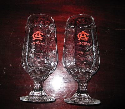 A. COORS PEDESTAL BEER GLASSES~Libbey Chivalry 12 OZ.~SET OF 2
