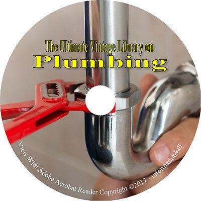 46 Books & Catalogs on DVD Ultimate Vintage Library on Plumbing, Drainage How to