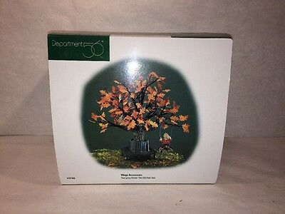 department 56 village accessories- Swinging Under The Old Oak Tree- NEW