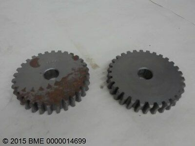 """Lot Of 2 Helical Gears,3818,  5/8"""" Keyed Bore, 30 Teeth, .305"""" Pitch,"""
