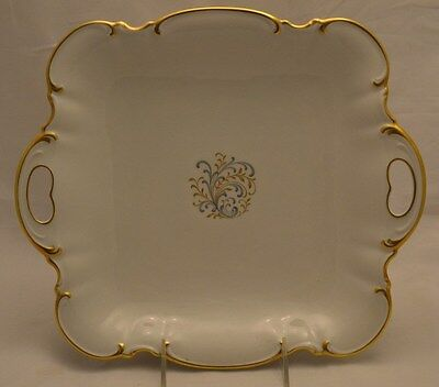 "Hutschenreuther "" The Beautiful"" Sylvia Square Handled Cake Plate"