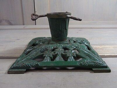 ZA3 Gorgeous Cast Iron Metal Christmas Xmas Tree Stand * Antique German 1930's