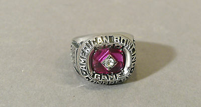 ABC Pro Bowler Inscribed KENNY SHAW'S 300 Perfect Game Championship Bowling Ring