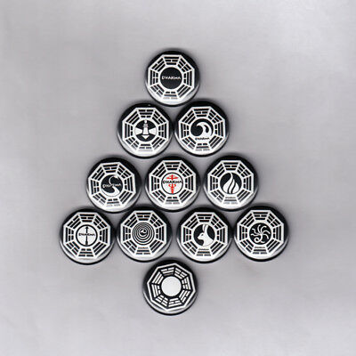 LOST / DHARMA INITIATIVE  - PINS / BUTTONS (logo shirt poster art print patch)