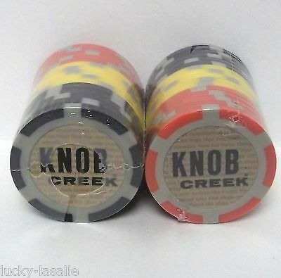 30 KNOB CREEK Plastic POKER CHIP LOT  NEW IN PACKAGE Red YELLOW Black