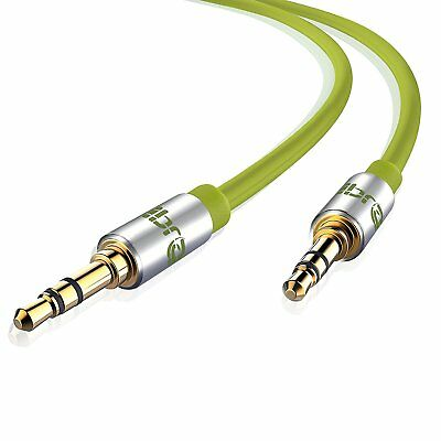 2M 3.5mm Jack Plug To Plug Male Audio Auxiliary Cable Lead PC Car GOLD MP3 iPod