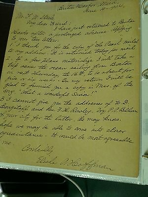 Autographed Letter Singed by Elisha Albright Hoffman