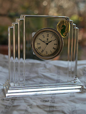 Waterford Crystal Signed Metropolitan Clock, Brand New